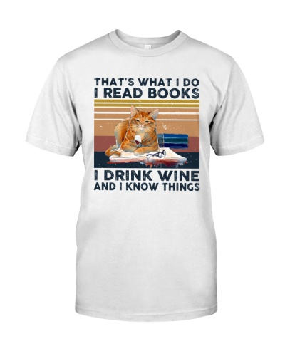Cat - I Read Books And Drink Wine