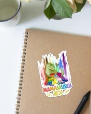 LGBT - Mamasaurus Sticker - Single (Vertical) aos-sticker-single-vertical-lifestyle-front-16