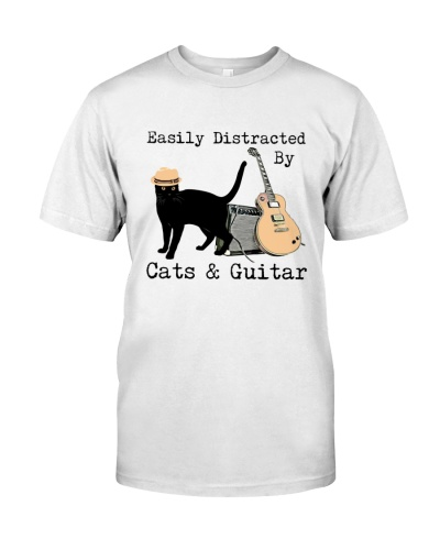 Cat Guitar Easily Distracted