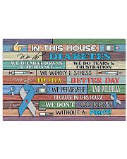 Diabetes - In This House 17x11 Poster front