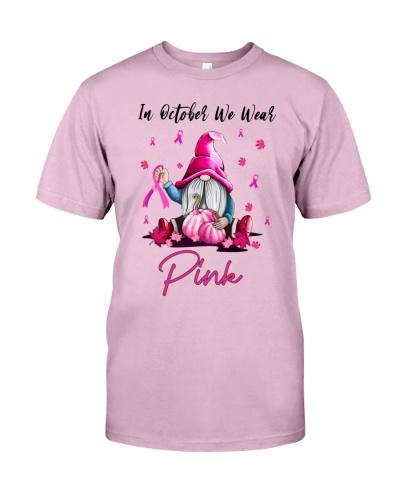 Breast Cancer Autumn Gnomie Wear Pink