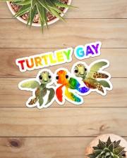 LGBT Turtley Gay  Sticker - Single (Horizontal) aos-sticker-single-horizontal-lifestyle-front-07
