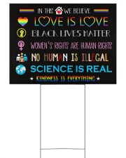 LGBT - In This House Sign Yard 24x18 Yard Sign front