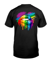 LGBT -Kiss Whoever The F You Want 2 Sides Classic T-Shirt back