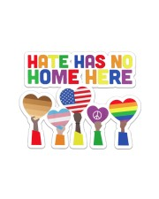 LGBT - Hate - No Home  Sticker - Single (Horizontal) thumbnail