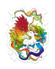 LGBT Dragon Unicorn Sticker - Single (Vertical) front