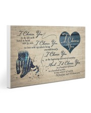 I Choose You Blue 30x20 Gallery Wrapped Canvas Prints thumbnail