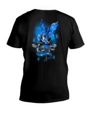Diabetes Dragon Rose 2 Sides V-Neck T-Shirt tile