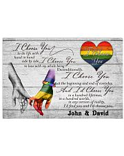 LGBT - I Choose You Customized Name 17x11 Poster front