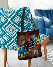 Autism Leather Pattern Don't Judge All-over Tote aos-all-over-tote-lifestyle-front-01