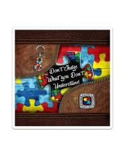 Autism Leather Pattern Don't Judge Sticker tile