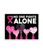 Breast Cancer - No One Fights Alone Sticker tile