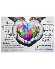 Autism - Love Never Fails Poster 17x11 Poster front