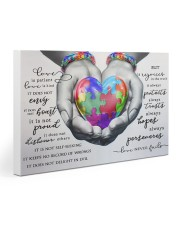 Autism - Love Never Fails Poster 30x20 Gallery Wrapped Canvas Prints thumbnail