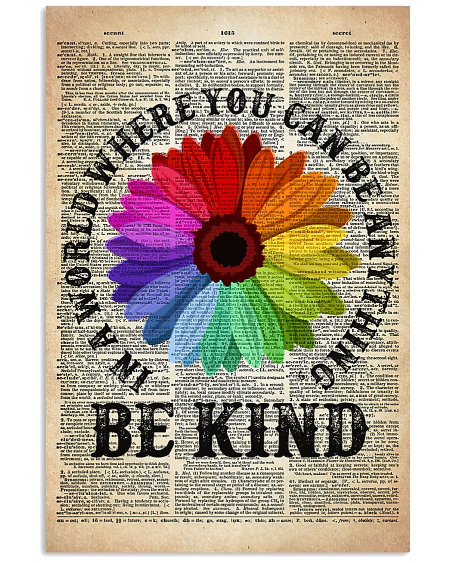 LGBT Be Kind Dictionary  11x17 Poster