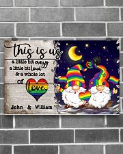Personalized LGBT - Gnome This is us Poster 17x11 Poster poster-landscape-17x11-lifestyle-18
