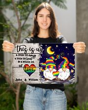 Personalized LGBT - Gnome This is us Poster 17x11 Poster poster-landscape-17x11-lifestyle-19