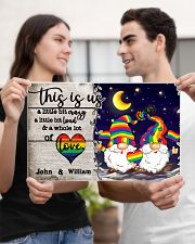 Personalized LGBT - Gnome This is us Poster 17x11 Poster poster-landscape-17x11-lifestyle-20