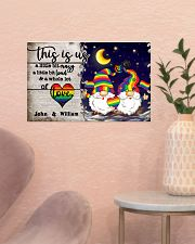 Personalized LGBT - Gnome This is us Poster 17x11 Poster poster-landscape-17x11-lifestyle-22