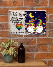 Personalized LGBT - Gnome This is us Poster 17x11 Poster poster-landscape-17x11-lifestyle-23