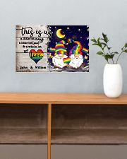 Personalized LGBT - Gnome This is us Poster 17x11 Poster poster-landscape-17x11-lifestyle-24