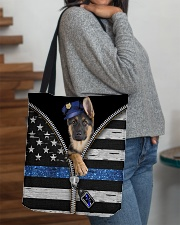 German Shepherd - Back The Blue All-over Tote aos-all-over-tote-lifestyle-front-09