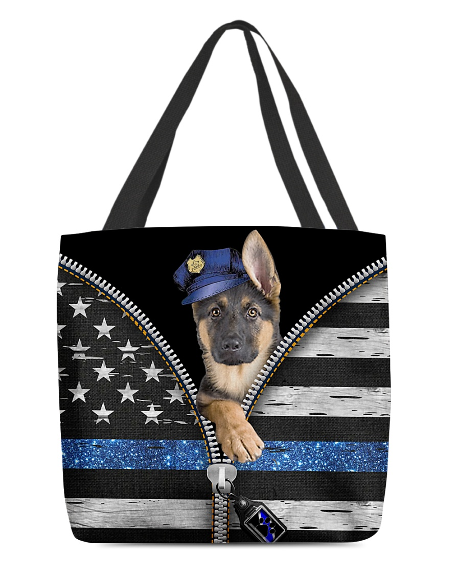 German Shepherd - Back The Blue All-over Tote