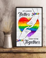 LGBT - We Are Together Poster 11x17 Poster lifestyle-poster-3
