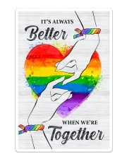 LGBT - We Are Together Poster Sticker - Single (Vertical) thumbnail