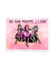 Breast Cancer Horse No One Fight Alone Sticker - Single (Horizontal) thumbnail