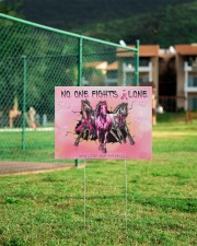 Breast Cancer Horse No One Fight Alone 24x18 Yard Sign aos-yard-sign-24x18-lifestyle-front-21