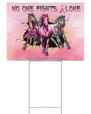 Breast Cancer Horse No One Fight Alone 24x18 Yard Sign back