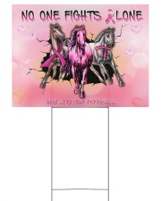 Breast Cancer Horse No One Fight Alone 24x18 Yard Sign front