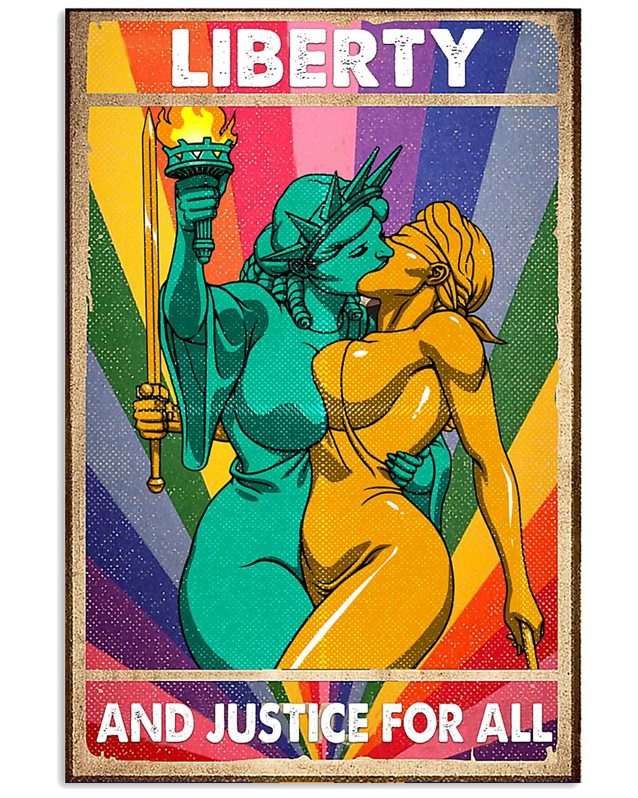 LGBT - Liberty And Justice For All Poster 11x17 Poster