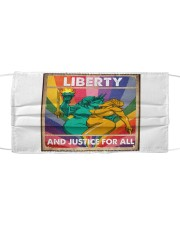 LGBT - Liberty And Justice For All Poster Cloth face mask thumbnail
