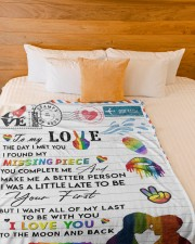 """LGBT - To My Love Blanket Large Fleece Blanket - 60"""" x 80"""" aos-coral-fleece-blanket-60x80-lifestyle-front-02a"""