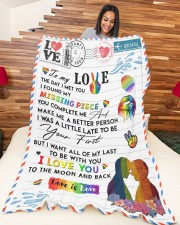"""LGBT - To My Love Blanket Large Fleece Blanket - 60"""" x 80"""" aos-coral-fleece-blanket-60x80-lifestyle-front-04a"""