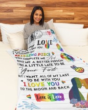 """LGBT - To My Love Blanket Large Fleece Blanket - 60"""" x 80"""" aos-coral-fleece-blanket-60x80-lifestyle-front-05a"""