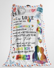"""LGBT - To My Love Blanket Large Fleece Blanket - 60"""" x 80"""" aos-coral-fleece-blanket-60x80-lifestyle-front-10a"""