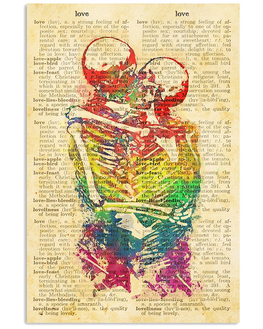 Skull LGBT Love Dictionary Style 11x17 Poster