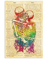 Skull LGBT Love Dictionary Style 11x17 Poster front