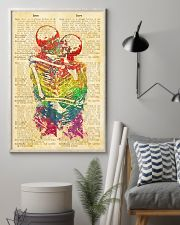 Skull LGBT Love Dictionary Style 11x17 Poster lifestyle-poster-1