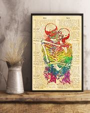 Skull LGBT Love Dictionary Style 11x17 Poster lifestyle-poster-3