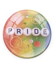 LGBT Pride Ornament Circle ornament - single (porcelain) front