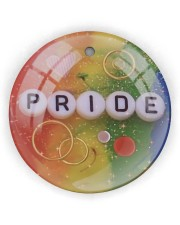 LGBT Pride Ornament Circle ornament - single (wood) thumbnail