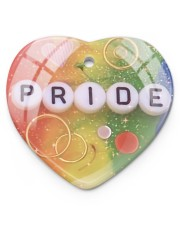 LGBT Pride Ornament Heart ornament - single (porcelain) thumbnail