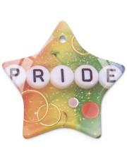 LGBT Pride Ornament Star ornament - single (porcelain) thumbnail