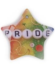 LGBT Pride Ornament Star ornament - single (wood) thumbnail