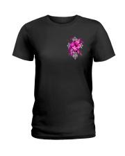 Breast Cancer - Faith Hope Love 2 Sides  Ladies T-Shirt tile
