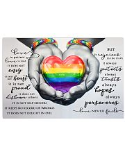 LGBT - Love Never Fails Poster 17x11 Poster front